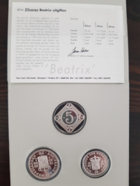Muntset 20 jarig Jubileum Koningin Beatrix (zilver 925/1000) PROOF
