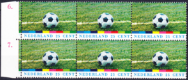 Plaatfout  1050 P1 Postfris in blok van 6  Cataloguswaarde 15,00