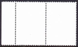 Compleet blanco testzegels in postfris paar met velrand