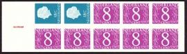 Postzegelboekje  4Zb Registerstreep bruin 9 mm  LuXe Postfris  Cataloguswaarde 15,00 A-0366