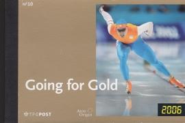 Prestigeboekje PR 10  Going for gold ''schaatsers in 3D''  cataloguswaarde 30,00