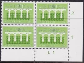 Plaatfout 1308 PM2 Postfris in blok van 4  E-4095