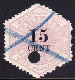 NVPH TG5 Telegram  Gebruikt    Cataloguswaarde 35,00