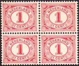 Plaatfout   51 PM17 Postfris in blok van 4 Cataloguswaarde: 110,00+++