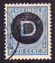 NVPH D4  Dienst Gebruikt cataloguswaarde: 3,00