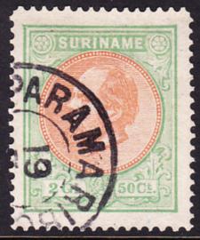 NVPH 15 Koning Willem III Gebruikt Cataloguswaarde 85.00