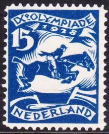 Plaatfout  218 PM7  Olympiade 1928 Ongebruikt Cataloguswaarde 110.00