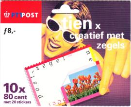 NVPH HB1773-1777  Tien x creatief met zegels (verrassingszegels) Cataloguswaarde 12,00