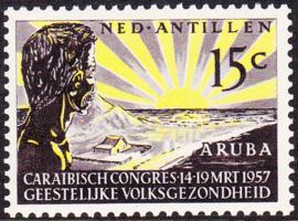 NVPH  261 ''Geestelijke volksgezondheid 1957 Postfris cataloguswaarde: 0,50