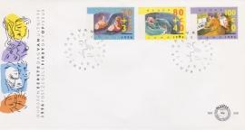Plaatfout 1637 P op FDC E348 Blanco open klep cataloguswaarde 20,00  A-0162