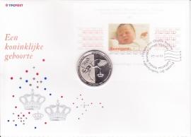 Gelegenheids enveloppe met penning tbv Koninklijke geboorte Prinses Amalia  2003