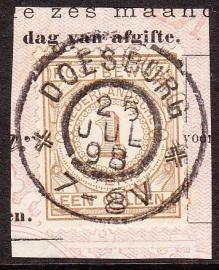 NVPH PW1 Postbewijs Op deel formulier luxe gebruikt! Cataloguswaarde: --.--  E-0971