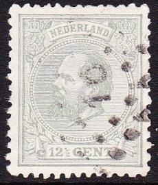 NVPH   22H Koning Willem 3 gebruikt Cataloguswaarde 3.00 E-0984
