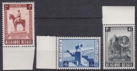 OBP 938-940 Nationaal monument van Z.M. Koning Albert I  1954 Postfris / MNH Cataloguswaarde: 70,00 E-4355
