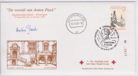 FDC Anton Pieck + fl 10.00 toeslag voor het rode Kruis, GESIGNEERD ANTON PIECK