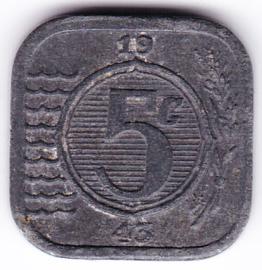 5 cent 1943 (Zeer Fraai+)