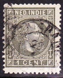 NVPH 4 Koning Willem 3 Gebruikt Cataloguswaarde: 3,00 E-0001