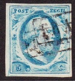 NVPH   1 Koning Willem 3 gebruikt Cataloguswaarde 45.00 E-2114