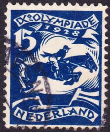Plaatfout   218 PM3  Olympiade 1928  Gebruikt