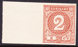 Suriname Proef 14a in de gekozen kleur, zoals uitgegeven zonder gom