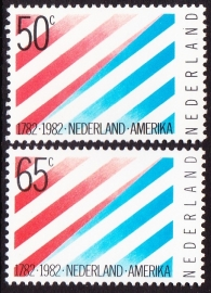 NVPH  1266-1267  200 jaar Nederland--USA Postfris
