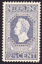 NVPH   94 Jubileum 1913 donker blauw Postfris Cataloguswaarde 9.00