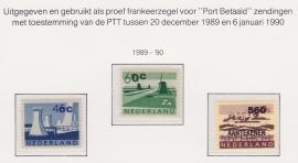 Proefzegels uitgegeven als proef frankeerzegel voor  Port Betaald zendingen Postfris E-1209