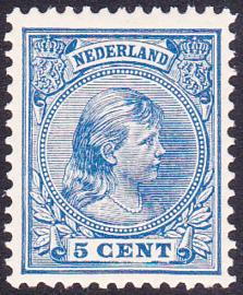 NVPH 35 Koningin Wilhelmina  Postfris Cataloguswaarde 40,00