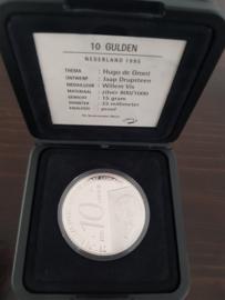 10 Gulden 1995 ''Hugo de Groot'' tientje Zilver  (Proof)