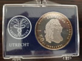 50 Gulden 1988 Karel Martens  Zilver  (FDC)