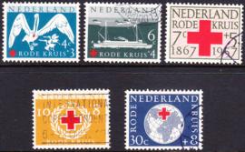 NVPH  695-699 Rode Kruiszegels 1957 Gebruikt