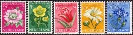 NVPH  583-587 Zomerzegels 1952 Gebruikt  CW 14.50  E-2150