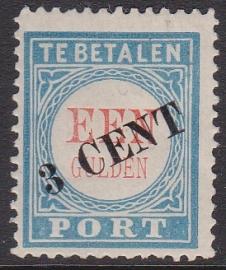 Port P27 Overdruk van de 1 gulden Ongebruikt cataloguswaarde 35.00 E-3423