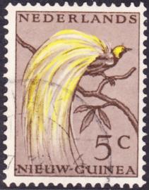 Plaatfout Ned. Nieuw Guinea 26 P  gestempeld