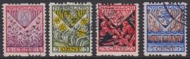 NVPH R78-81 Roltanding Kind 1927 Gebruikt Cataloguswaarde 30.00  E-4622