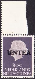 Ned. Nieuw Guinea / UNTEA  Opdrukafwijking UNafw PM2   op de 80 CT Postfris