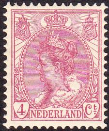 NVPH  58 Koningin Wilhelmina Postfris Cataloguswaarde 3.00