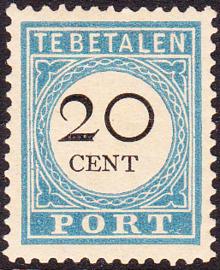 Port P10D TYPE II Cijfer en waarde in zwart Ongebruikt cataloguswaarde 52.00