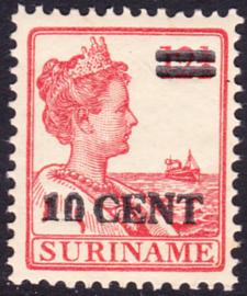 Plaatfout Suriname 112 PM  Postfris