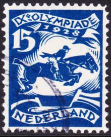 Plaatfout   218 PM4  Olympiade 1928  Gebruikt