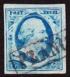NVPH   1 Koning Willem 3 gebruikt Cataloguswaarde 45.00 E-2093