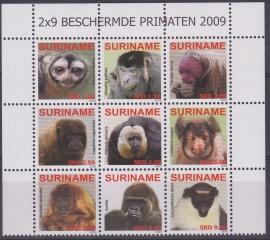 ZNB 1659-1668 Beschermde Primaten ''apen'' 2009 Cataloguswaarde 27,00 A-0754