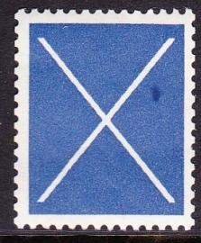 Test rolzegel blauw + plaatfout   SCHAARS E-0056
