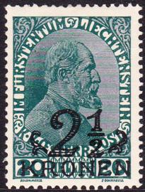 Liechtenstein 1920 Mi: 16 Ongebruikt / MH