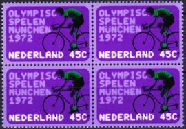 Plaatfout  1014 P (was eerst PM) Postfris in blok van 4  Cataloguswaarde 20,00