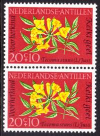 Ned. Antillen plaatfout 349 PM2 Postfris in paar