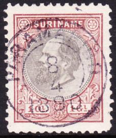 NVPH 14 Koning Willem III Gebruikt Cataloguswaarde 65.00