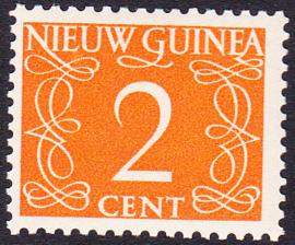 Plaatfout Ned. Nieuw Guinea 2 PM Postfris