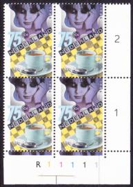 Plaatfout  1360 P2   Postfris  in blok van 4 Cataloguswaarde 13.00  E-6690