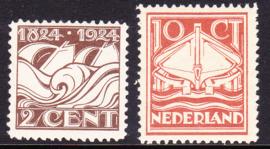 NVPH 139-140  100 jaar Ned. Reddingsmaatschappij Postfris Cataloguswaarde 25.00